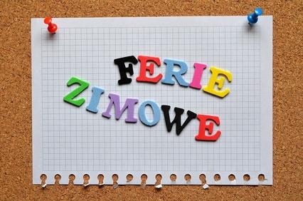 Ilustracja do informacji: FERIE - ZIMA 2019